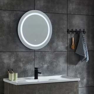 CE IP44 Round Illuminated Copper-free LED Bathroom Mirror