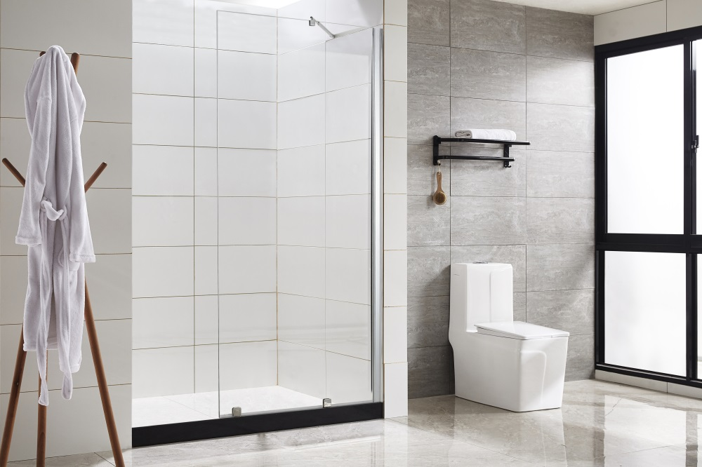 Bathroom glass partition precautions