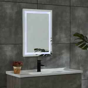 CE IP44 New Style 4 Sides Frame Copper-free Illuminated LED Bathroom Mirror