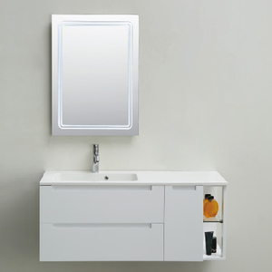 Wall Mounted Bathroom Cabinet White Color