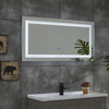 New Design Led Mirror in Bath Mirrors LED Light Backlit Bathroom Mirror Hotel Mirrors Custom Shaver Socket