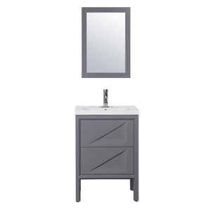 Bathroom Wash Basin Small Bathroom Cabinet with Marble Countertop