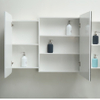 Wall Mounted Bathroom Cabinet White Color With 2 Doors and 2 Drawers With Cabinet Mirror