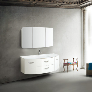 Wall Mounted Bathroom Cabinet White Color With 2 Doors and 2 Drawers