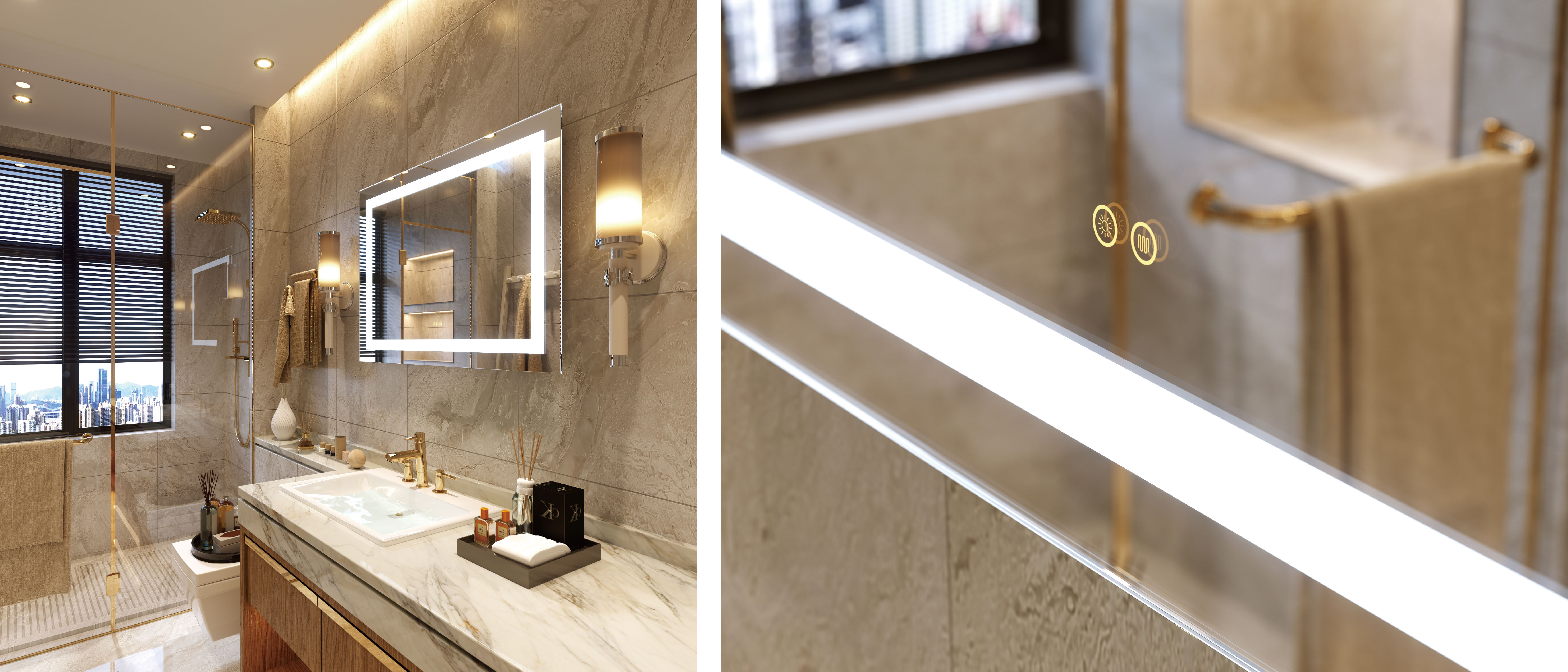 LED Mirror Bathroom Mirrors With Light Wall Mounted-02