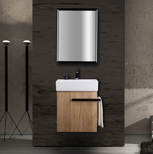 62CM Modern Melamine Wall Mounted Bathroom Cabinet Vanity Idea