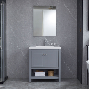Grey Bathroom Cabinets Small Vanity