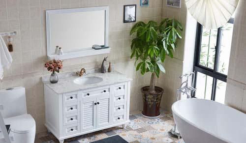 What are the functions of bathroom mirrors